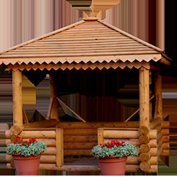 Беседки деревянные и садовые